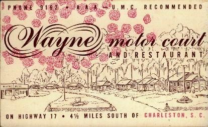Wayne Motor Court - Charleston, South Carolina SC Postcard