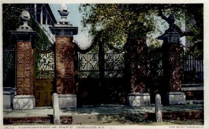 A Charleston Gate - South Carolina SC Postcard