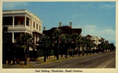 East Battery - Charleston, South Carolina SC Postcard