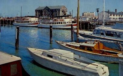 Municipal Marina - Charleston, South Carolina SC Postcard