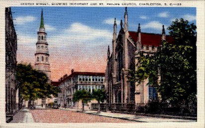 Church Street - Charleston, South Carolina SC Postcard