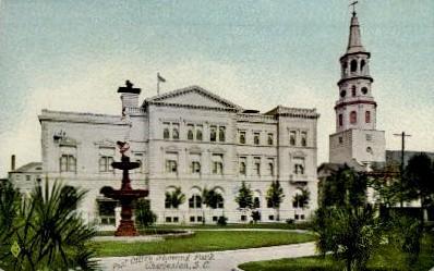 Post Office - Charleston, South Carolina SC Postcard