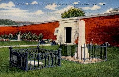 Grave of the Osceola - Charleston, South Carolina SC Postcard