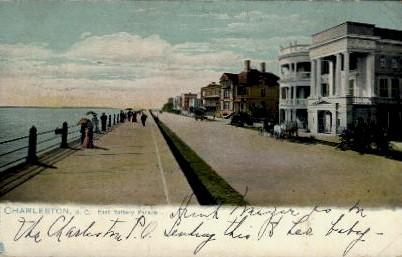 East Battery Parade - Charleston, South Carolina SC Postcard