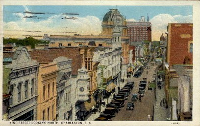 King Street  - Charleston, South Carolina SC Postcard