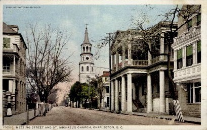 St. Michaels Church - Charleston, South Carolina SC Postcard
