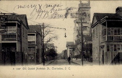 Archdale St. - Charleston, South Carolina SC Postcard