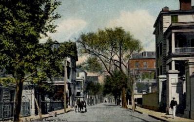Old Legare Street - Charleston, South Carolina SC Postcard