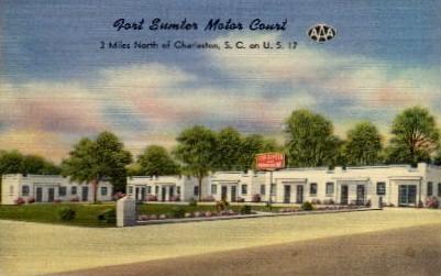 Fort Sumter Motor Court - Charleston, South Carolina SC Postcard