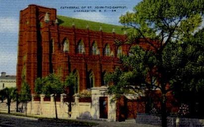 Cathedral of St. John The Baptist - Charleston, South Carolina SC Postcard