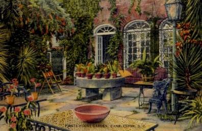 Pirate House Gardens - Charleston, South Carolina SC Postcard