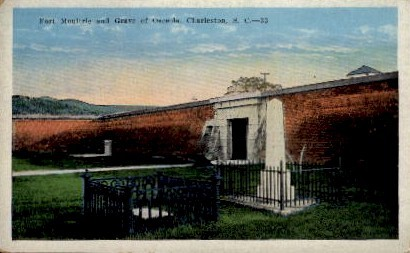 Fort Moultrie and Grave of the Osceola - Charleston, South Carolina SC Postcard