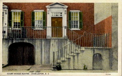 Court House Square - Charleston, South Carolina SC Postcard