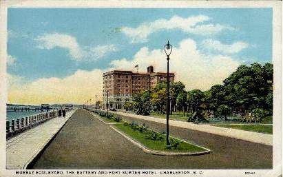 Murray Boulevard - Charleston, South Carolina SC Postcard