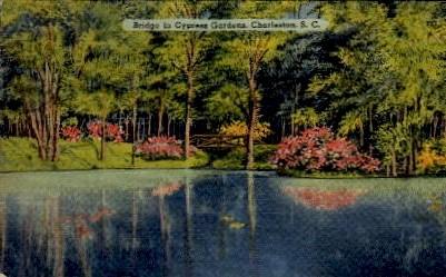 Bridge in Cypress Gardens - Charleston, South Carolina SC Postcard