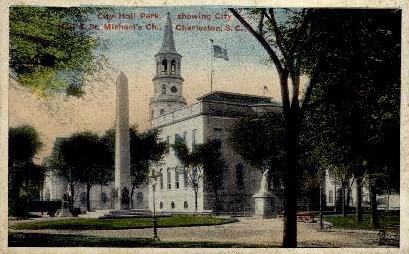 City Hall Park - Charleston, South Carolina SC Postcard