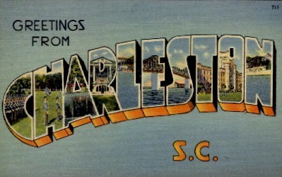 Greetings from Charleston - South Carolina SC Postcard