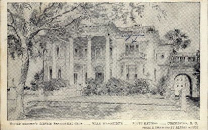 Seaman's Service Residential Club - Charleston, South Carolina SC Postcard