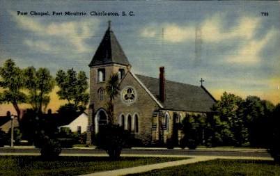 Post Chapel, Fourt Moultrie - Charleston, South Carolina SC Postcard