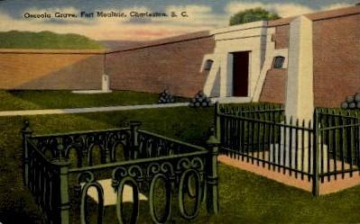 Osceola Grave - Charleston, South Carolina SC Postcard