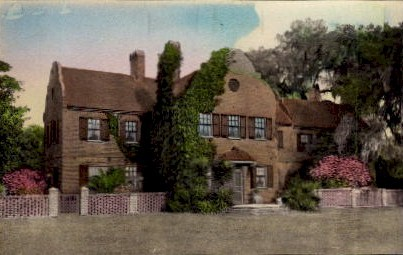 Tudor Mansion - Charleston, South Carolina SC Postcard