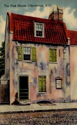 The Pink House - Charleston, South Carolina SC Postcard