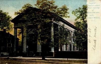 Baptist Church - Columbia, South Carolina SC Postcard
