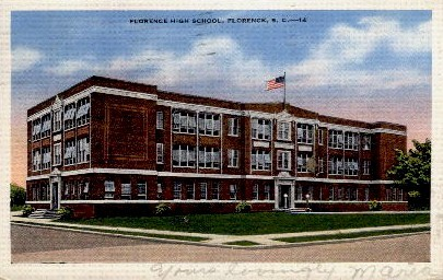 Florence High School - South Carolina SC Postcard