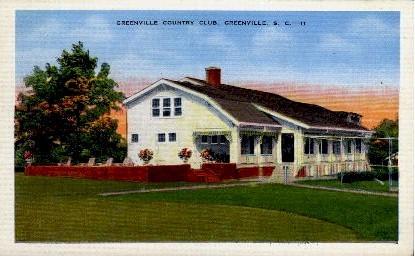 Greenville Country Club - South Carolina SC Postcard