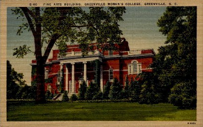 Greenville Woman's College - South Carolina SC Postcard
