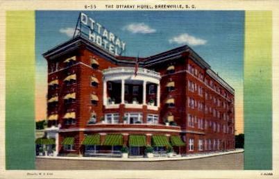 The Ottaray Hotel - Greenville, South Carolina SC Postcard