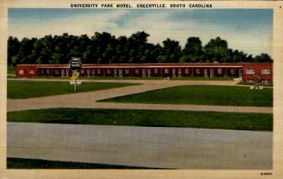 University Park Motel - Greenville, South Carolina SC Postcard