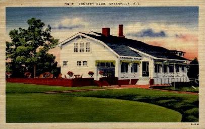 Country Club - Greenville, South Carolina SC Postcard