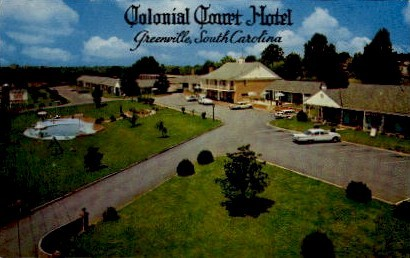 Colonial Court Hotel - Greenville, South Carolina SC Postcard