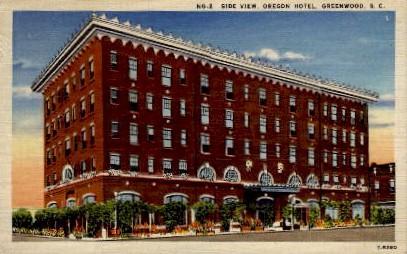 Oregon Hotel - Greenwood, South Carolina SC Postcard