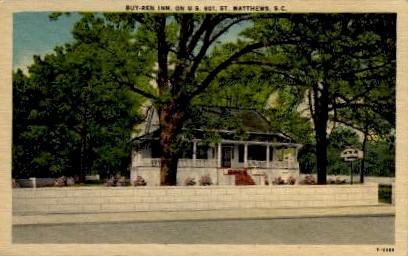 Buy-Ren Inn - Matthews, South Carolina SC Postcard