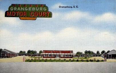 Orangeburg Motor Court - South Carolina SC Postcard