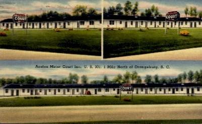 Azaela Motor Court Inc. - Orangeburg, South Carolina SC Postcard