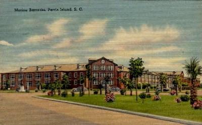 Marine Barracks - Parris Island, South Carolina SC Postcard