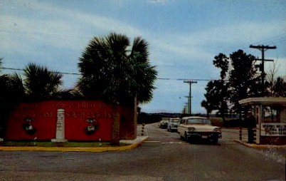 Main Gate, Marine Corps Recruit Depot - Parris Island, South Carolina SC Postcard