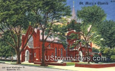 St. Mary's Church - Greenville, South Carolina SC Postcard