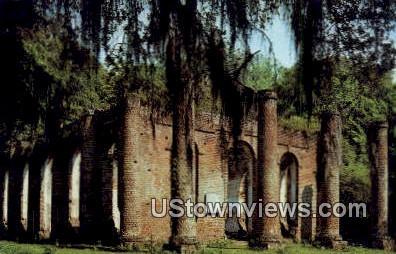 Ruins of Sheldon Church - Beaufort County, South Carolina SC Postcard