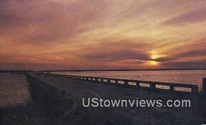 Sunset on the Broad River - Beaufort County, South Carolina SC Postcard