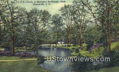 McPherson Park - Greenville, South Carolina SC Postcard
