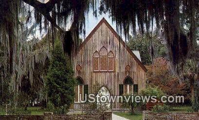 Church of the Cross - Beaufort County, South Carolina SC Postcard