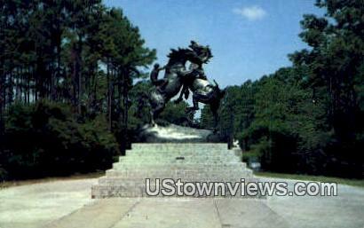 Fighting Stallions, Brookgreen Gardens - Myrtle Beach, South Carolina SC Postcard