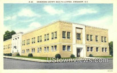 Anderson County Health Center - South Carolina SC Postcard