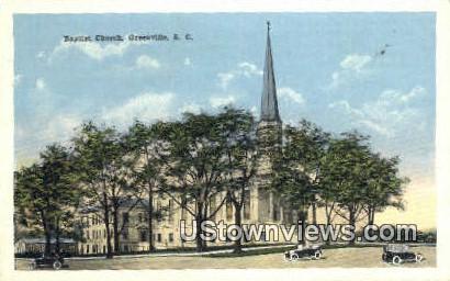 Baptist Church - Greenville, South Carolina SC Postcard