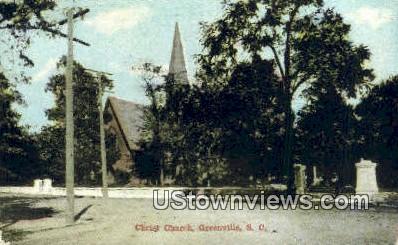 Christ Church - Greenville, South Carolina SC Postcard