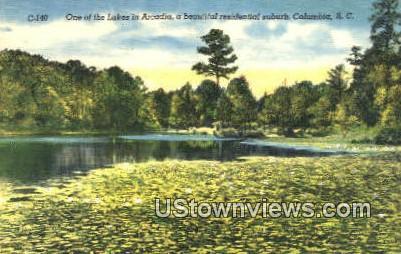 Lakes in Arcadia - Columbia, South Carolina SC Postcard